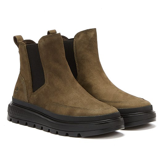Timberland Ray City Chelsea Womens Olive Boots