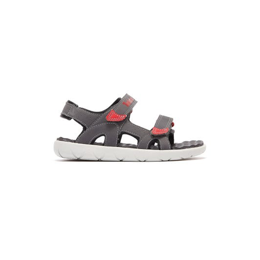Timberland Perkins Row 2-Strap Toddlers Grey / Red Sandals