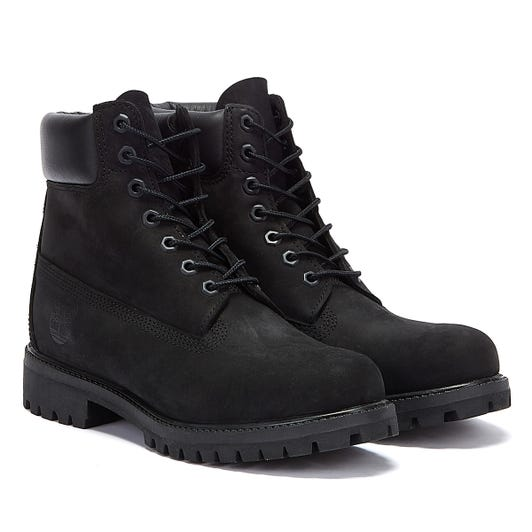 Timberland Premium 6 Inch Nubuck Mens Black  Leather Boots