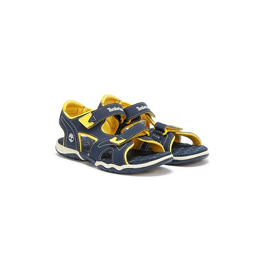 Timberland Toddlers Navy & Yellow Adventure Seeker Sandals