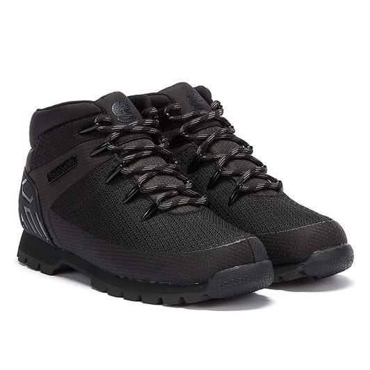 Timberland Euro Sprint Knit Mens Black Boots