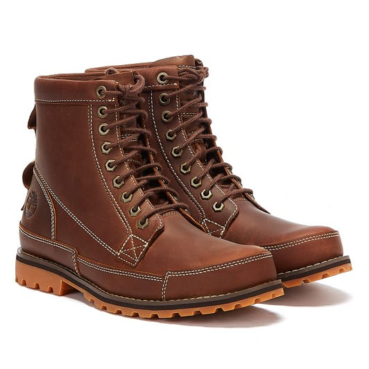 Timberland Originals II 6 Inch Mens Rust Brown Boots