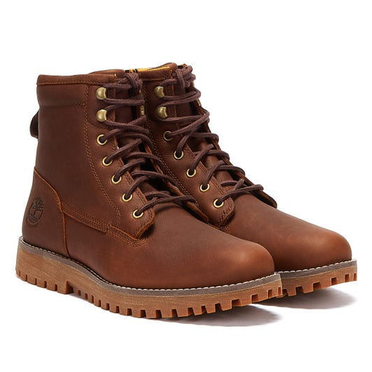 Timberland Jackson's Landing Waterproof Mens Rust Brown Boots