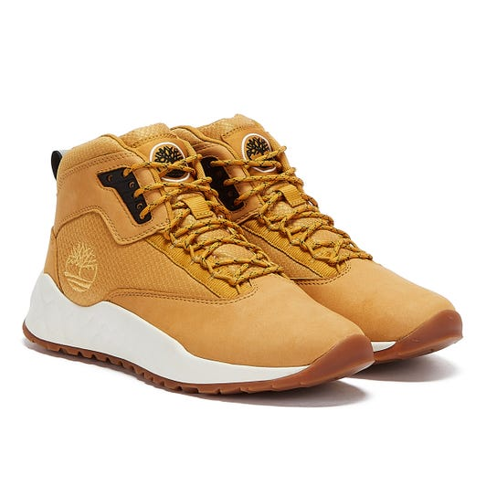 Timberland Solar Wave Mid Mens Wheat Brown Trainers
