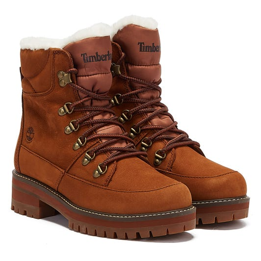 Timberland Courmayeur Valley Hiker Fur Lined Womens Brown Boots