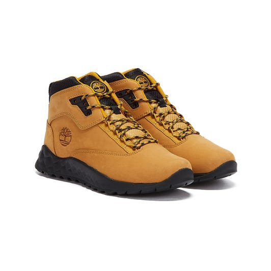 Timberland Solar Wave Mid Junior Wheat Brown / Black Boots