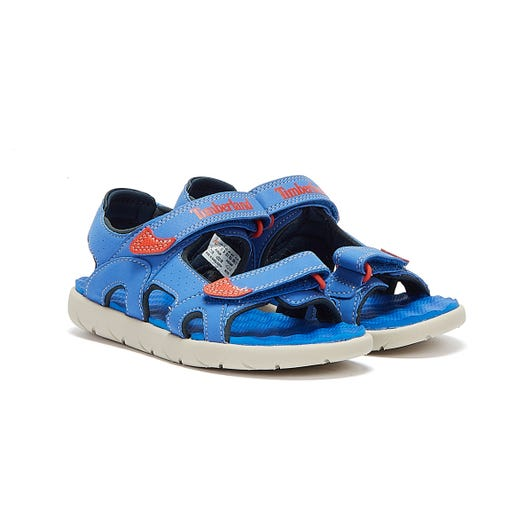 Timberland Perkins Row 2-Strap Youth Bright Blue Sandals