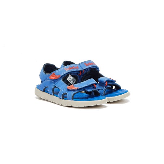Timberland Perkins Row 2-Strap Toddlers Bright Blue Sandals
