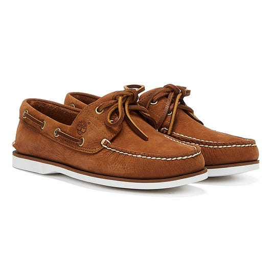 Timberland Classic Boat Nubuck Mens Rust Shoes