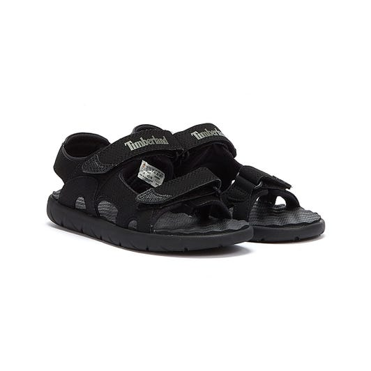 Timberland Perkins Row 2-Strap Youth Blackout Sandals