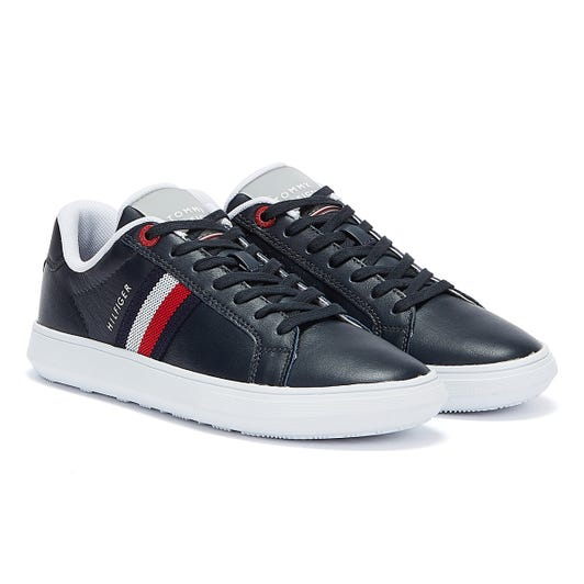 Tommy Hilfiger Leather Essential Cupsole Mens Navy Trainers