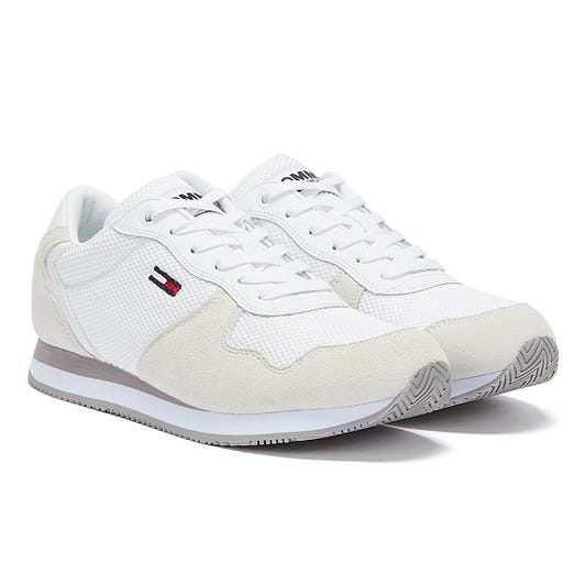 Tommy Jeans Suede Mesh Panel Womens White Trainers