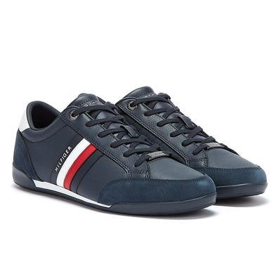 Tommy Hilfiger Corporate Material Mix Cupsole Mens Navy Trainers