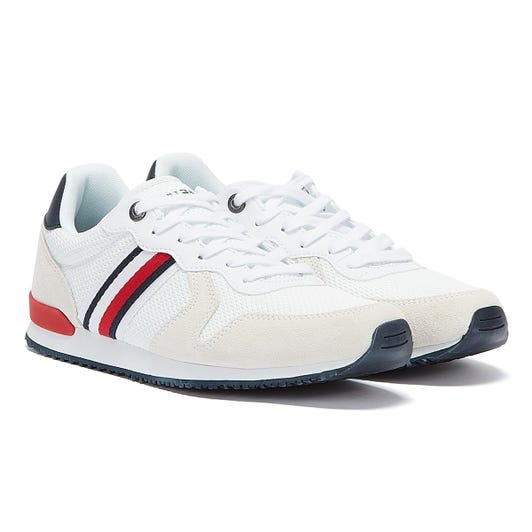 Tommy Hilfiger Iconic Material Mix Mens White Trainers