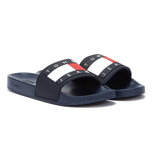 Tommy Jeans Flag Womens Navy Slides