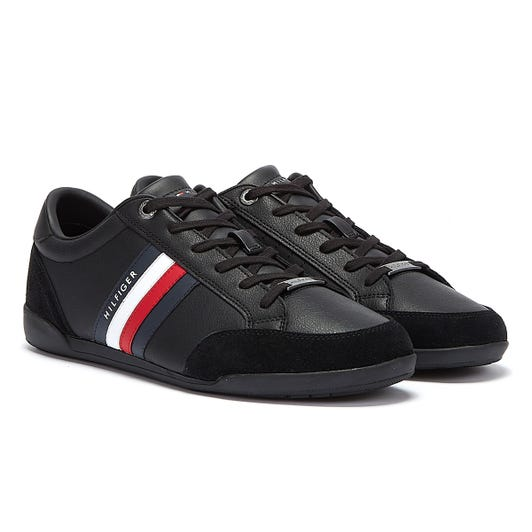 Tommy Hilfiger Corporate Material Mix Cupsole Mens Black Trainers