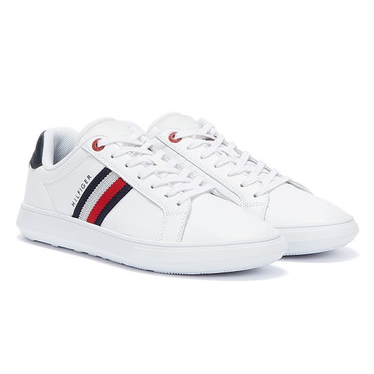Tommy Hilfiger Leather Essential Cupsole Mens White Trainers