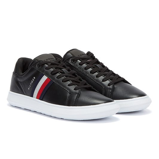 Tommy Hilfiger Leather Essential Cupsole Mens Black Trainers