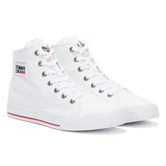 Tommy Jeans Mid Vulcanised Womens White Trainers