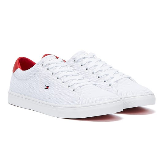 Tommy Hilfiger Essential Knit Vulcanised Mens White / Primary Red Trainers