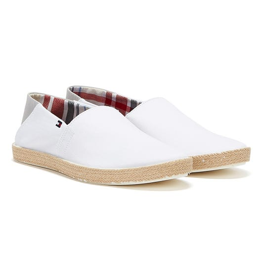 Tommy Hilfiger Cotton Jute Mens White Espadrilles