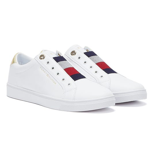 Tommy Hilfiger Signature Slip On Womens White Trainers