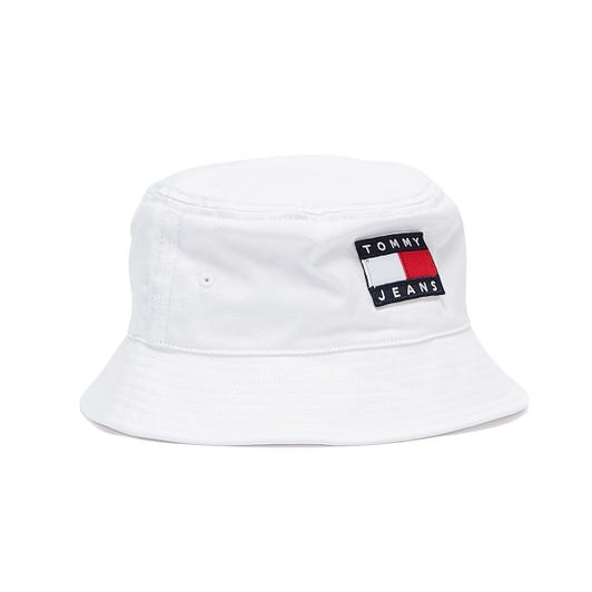 Tommy Jeans Heritage White Bucket Hat