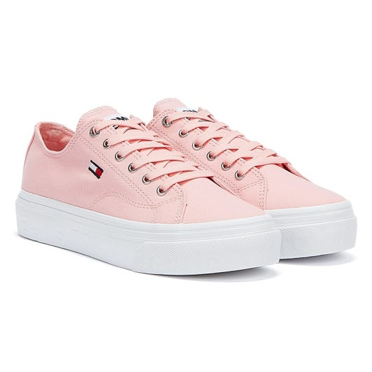 Tommy Jeans Vulcanised Flatform Womens Pink Trainers