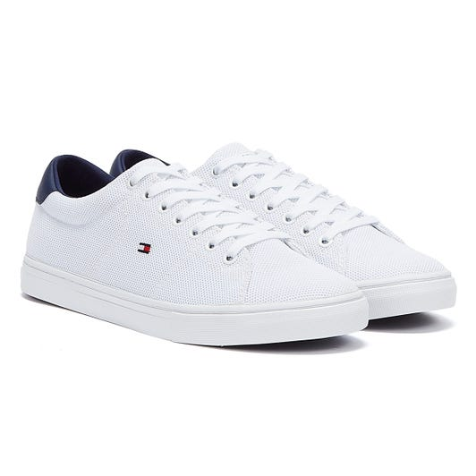 Tommy Hilfiger Essential Knit Mens White / Yale Navy Trainers