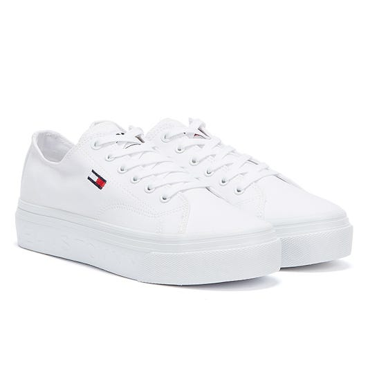 Tommy Jeans Vulcanised Flatform Womens White Trainers
