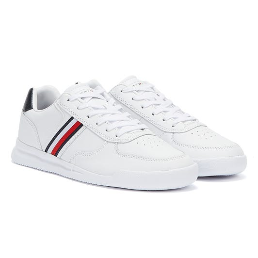 Tommy Hilfiger Lightweight Leather Flag Mens White Trainers