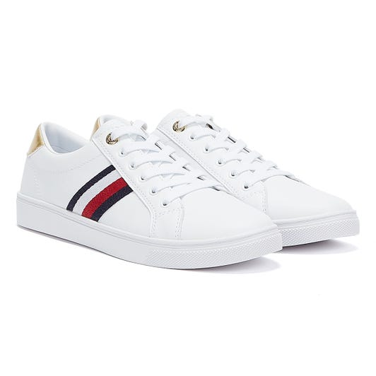 Tommy Hilfiger Signature Tape Cupsole Womens White Trainers