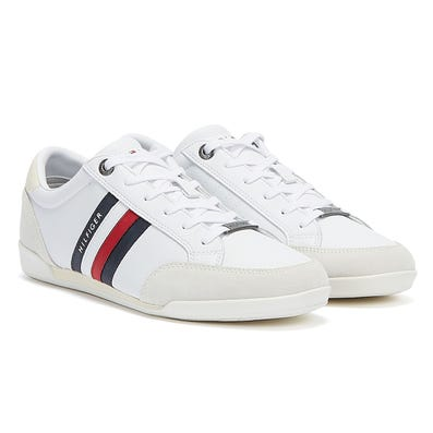 Tommy Hilfiger Corporate Material Mix Cupsole Mens White Trainers