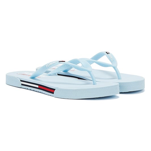 Tommy Jeans Essential Flat Womens Blue Sandals
