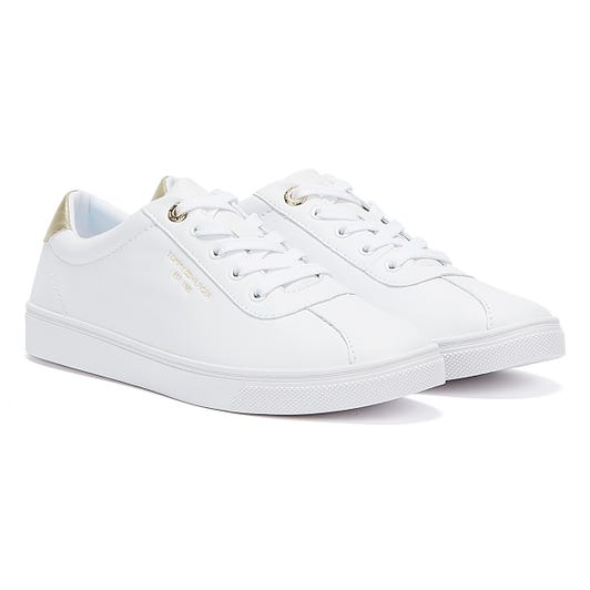 Tommy Hilfiger Court Leather Womens White Trainers