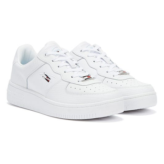 Tommy Jeans Mixed Texture Cupsole Womens White Trainers