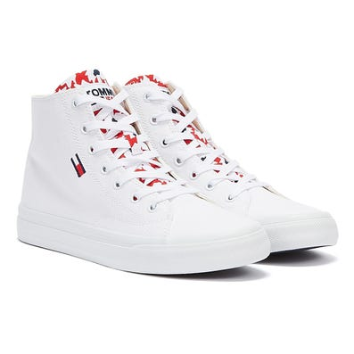 Tommy Jeans Mid Cut Vulc Womens White Trainer