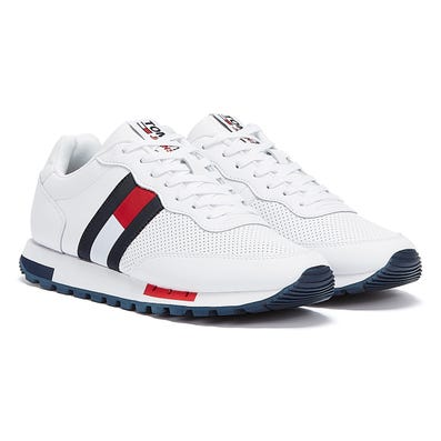 Tommy Jeans Leather Runner Mens White Trainers