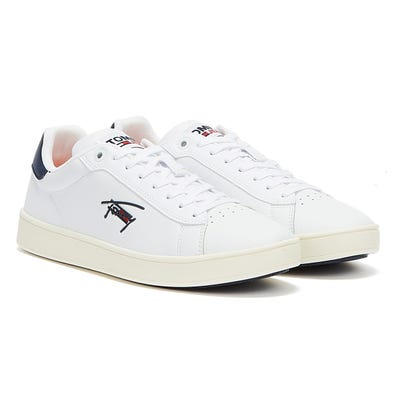 Tommy Jeans Cupsole Leather Mens White Trainers
