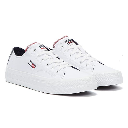Tommy Jeans Long Lace Vulc Mens White Trainers