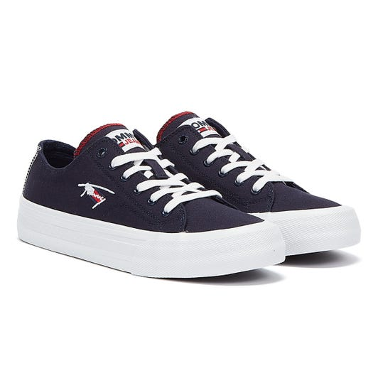 Tommy Jeans Long Lace Vulc Mens Twilight Navy Trainers