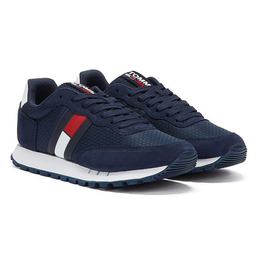 Tommy Jeans Retro Mix Runner Mens Twilight Navy Trainers