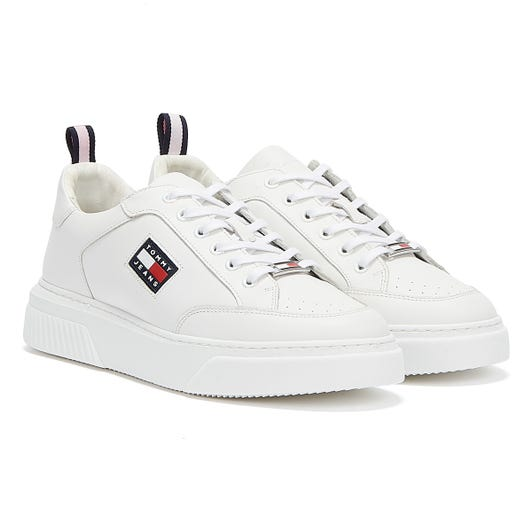 Tommy Jeans Elevated Leather Cupsole Womens White Trainers