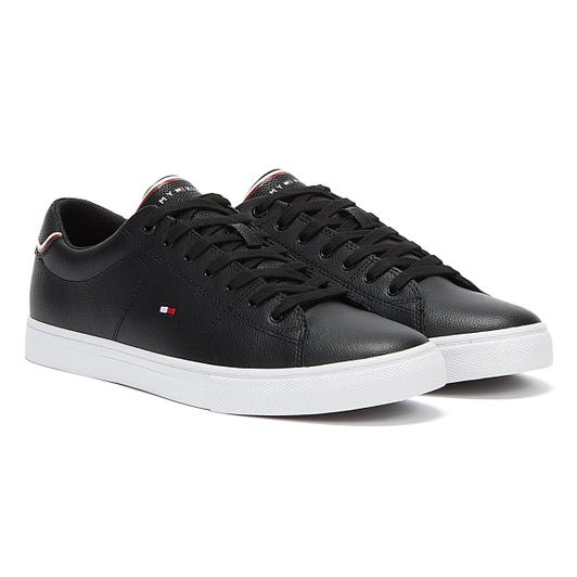 Tommy Hilfiger Essential Leather Mens Black Trainers