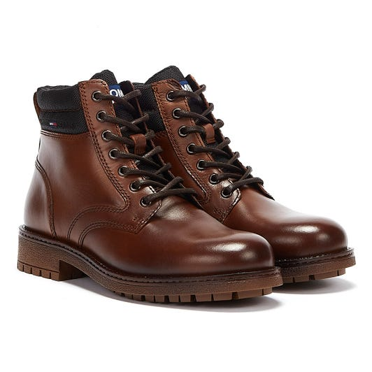 Tommy Jeans Classic Short Lace Up Mens Brown Boots