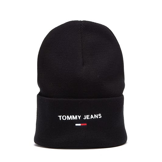 Tommy Jeans Sport Beanie Mens Black Hat