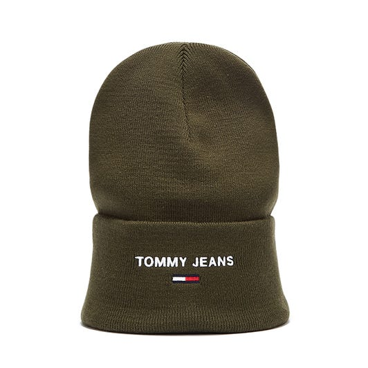 Tommy Jeans Sport Beanie Mens Dark Olive Hat