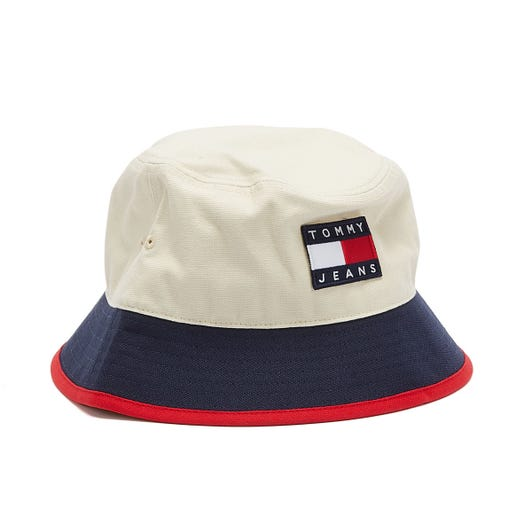 Tommy Jeans Heritage Canvas Off White / Navy Bucket Hat