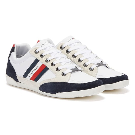 Tommy Hilfiger Corporate Mix Cupsole Mens White Trainers