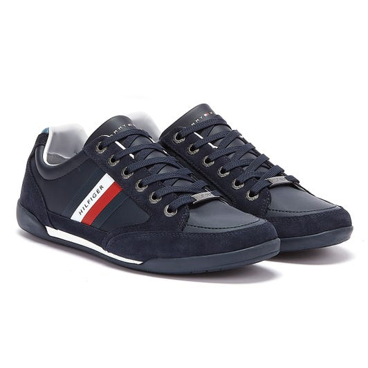 Tommy Hilfiger Corporate Mix Cupsole Mens Navy Trainers